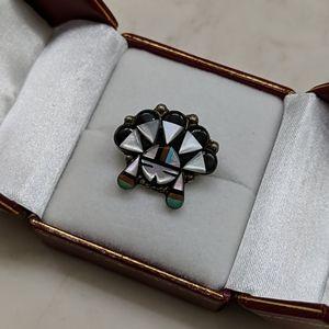 Vintage Zuni Sun Ring